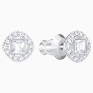 Swarovski angelic square pierced earrings
